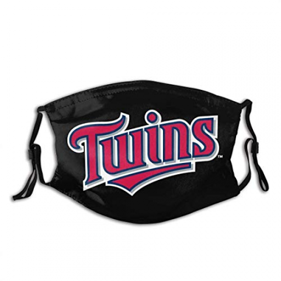 Personalized Christmas/Halloween Decorations Neck Gaiter,Sports Bandanas Twins Minnesota Breathable Reusable Face Shield Adjustable Washable Mouth Masks, For MLB Team Minnesota Twins face cover